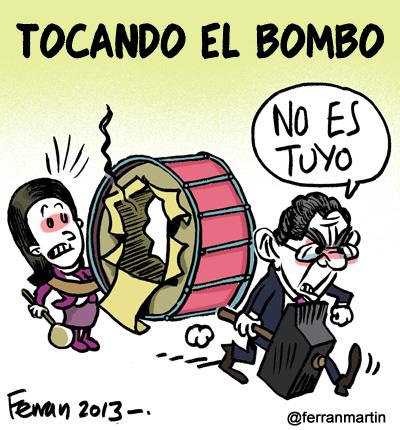 Tocando el bombo