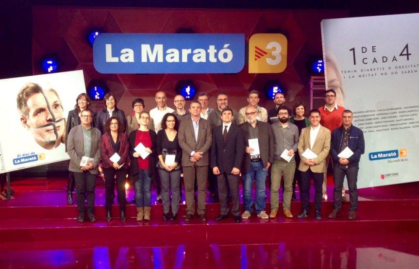 Presentació del Llibre la Marato 2015 als estudis de TV3